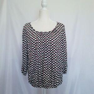 Daisy Fuentes size medium 3/4 sleeve blouse